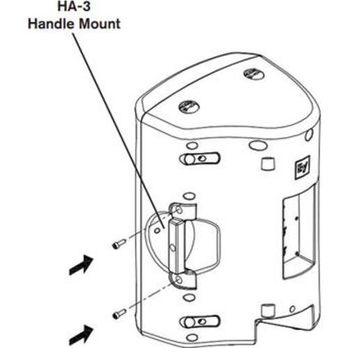 HA-3-BLK VSA-1 Handle Adapter for ZX3 Loudspeaker (Black)