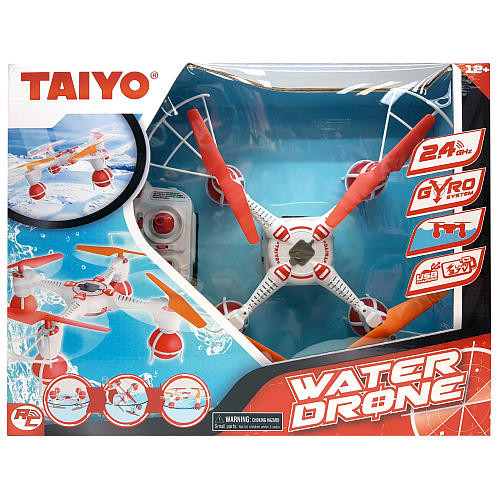 Taiyo Remote Control Water Drone - 2.4 GHz Red and White