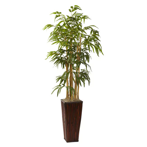 nearly natural 4-ft. Potted Bamboo Plant