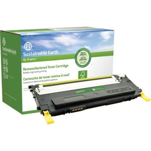 Sustainable Earth by Staples Remanufactured Yellow Toner Cartridge, Samsung CLT-Y409S (SEBCLP315YRDS)