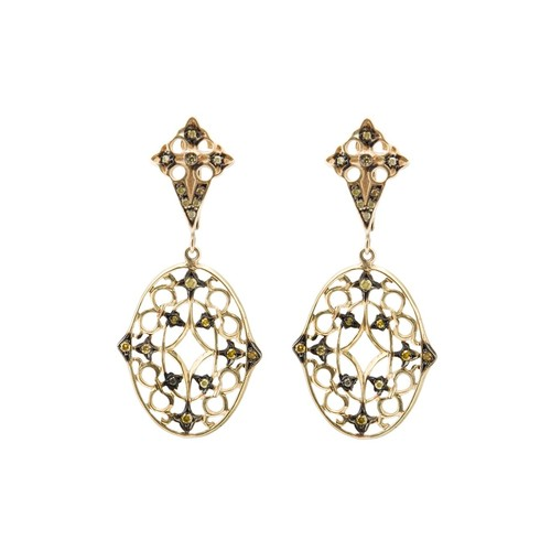 lace diamond drop earrings