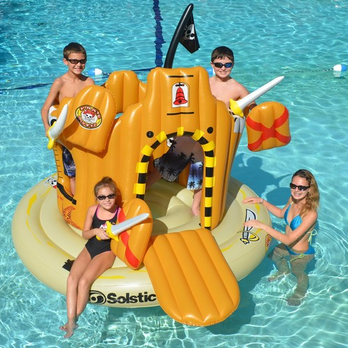 Swimline Pirate Island Inflatable Play Center for Swimming Pools