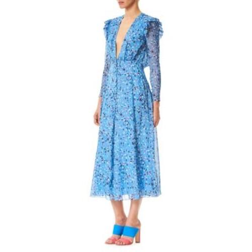 Silk Chiffon Midi Dress