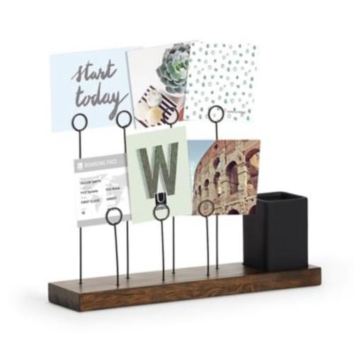 Umbra 7-Photo Standing Display in Walnut