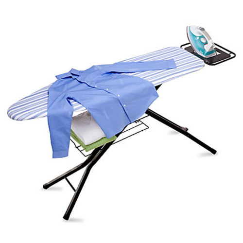 Honey-Can-Do Quad-Leg Ironing Board With Iron Rest And Sweater Shelf, 39