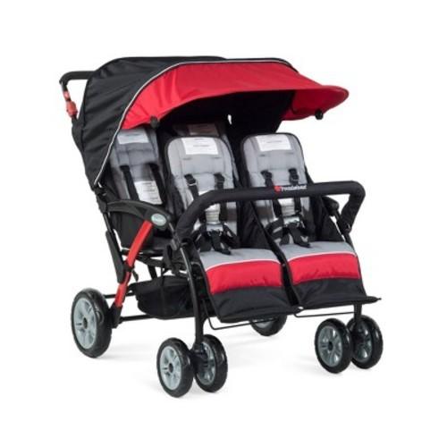 Quad Sport 4-Passenger Stroller, Red