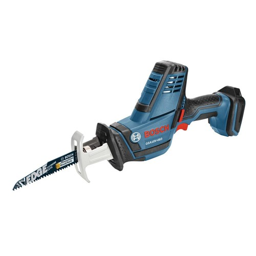 Bosch 18-Volt Lithium Ion Cordless Compact Reciprocating Saw with 2 Bi-Metal Blades (Tool-Only)