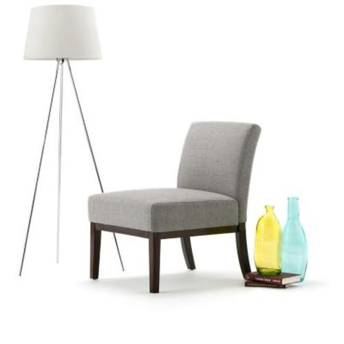 Simpli Home Upton Accent Chair in Grey (AXCCHR-007-G)