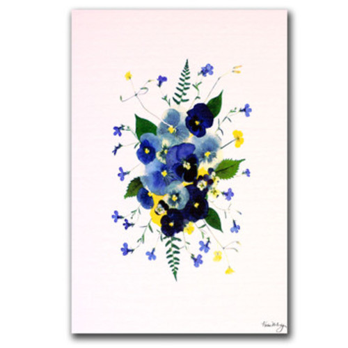 'Vivacious Violas' by Kathie McCurdy Painting Print on Canvas
