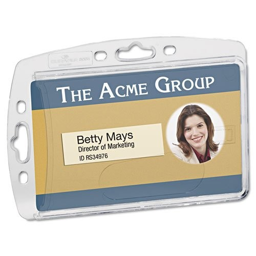 Durable 8005/8012/8268 Replacemt Id Card Holders - Horizontal, Vertical - Acrylic - 10 / Box - Clear (890519)