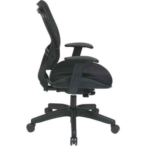 Office Star Raven Self Adjusting SpaceFlex Back and Raven Mesh Seat Managers Chair with Adjustable Arms and Nylon Base