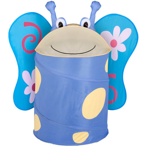 Honey-Can-Do HMP-02059 Kid's Pop-Up Hamper, Butterfly, Large [Butterfly]