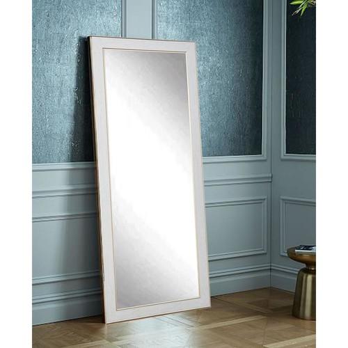 White Cracked Gold Decorative Floor Mirror