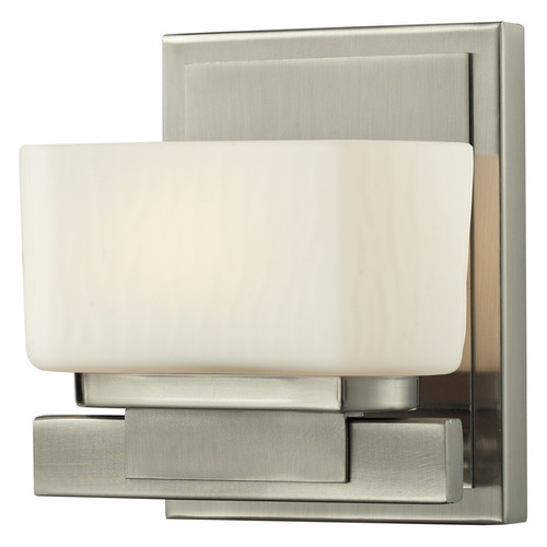 Z-Lite Gaia 1-light Matte Opal Glass Brushed Nickel Vanity Fixture - Brushed Nickel