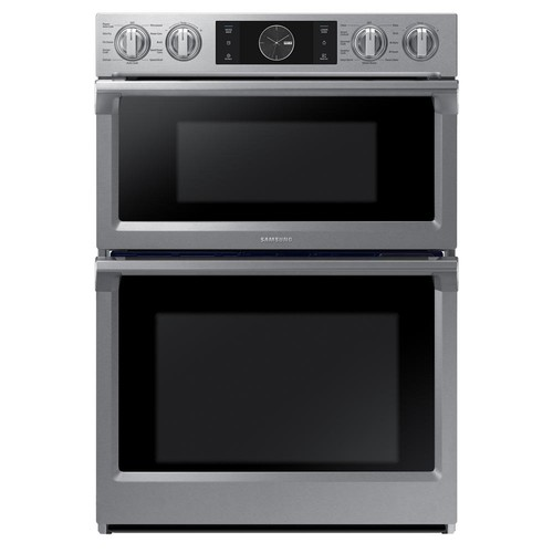 Samsung 30 in. Electric Steam Cook, Flex Duo Wall Oven Speed Cook Built-In Microwave in Stainless Steel