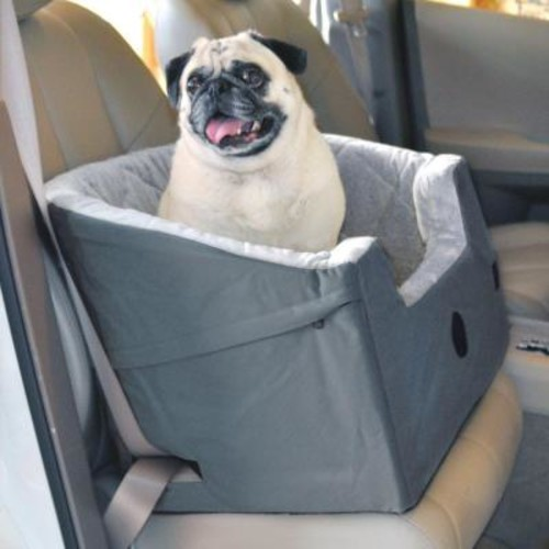 K&H Pet Products Bucket Booster Large Gray Pet Car Seat