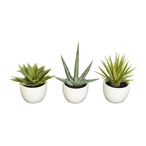 Nearly Natural Home Accent Southwest Collection Set of 3 Green