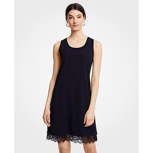 Ann Taylor Lace Hem Tank Dress
