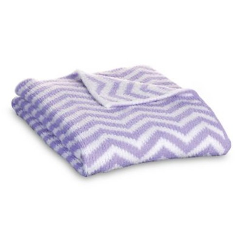 Lolli Living Mod Chevron Chenille Blanket in Purple