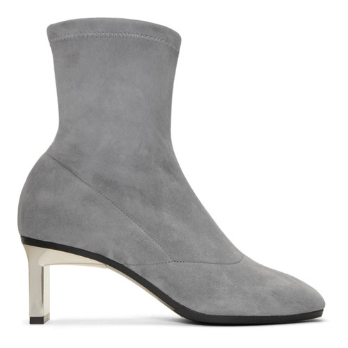 3.1 PHILLIP LIM Grey Suede Blade Boots
