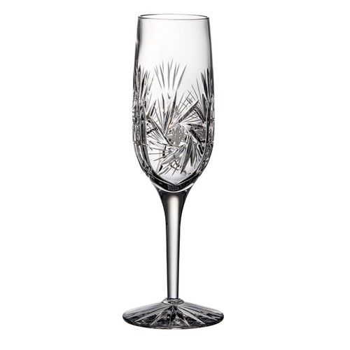Majestic Gifts Clear Crystal 6-ounce Hand-cut Champagne Flutes (Pack of 4)