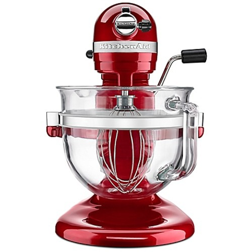 KitchenAid Pro 600 Stand Mixer with 6-Quart Glass Bowl in Red