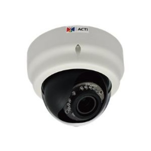ACTi D64A - Network surveillance camera - dome - vandal-proof - color ( Day&Night ) - 1 MP - 1280 x 720 - 720p - fixed iris - vari-focal - audio - 10/100 - MJPEG, H.264 - PoE