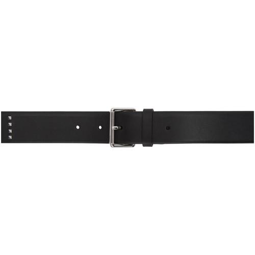 VALENTINO Black  Garavani Leather Rockstud Belt