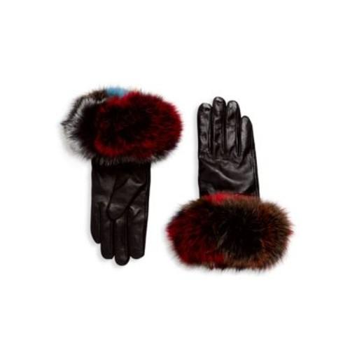 Surell - Chic Fox Fur Leather Gloves
