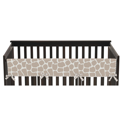 Sweet Jojo Designs Long Crib Rail Guard Cover for Giraffe Collection