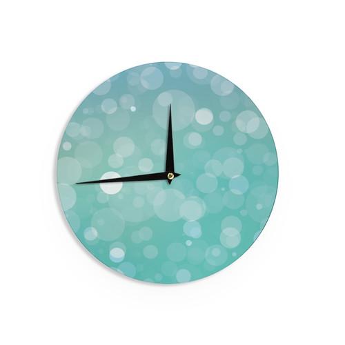 KESS InHouse KESS Original 'Let It Go' Aqua Bokeh Wall Clock