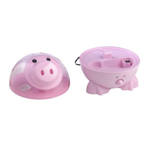 Drive Medical Ultrasonic Cool Mist Pediatric Humidifier, Puddles the Pig, Pink