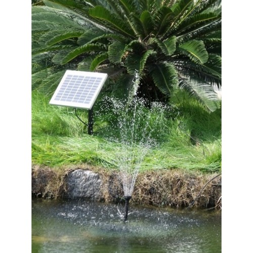 Solar Pump & Solar Panel Kit With 2 Spray Heads 132 GPH 56 Inch Lift