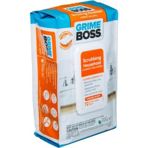 GRIME BOSS Orange Scented Scrubbing Household Disinfecting Wipes (72-Count)