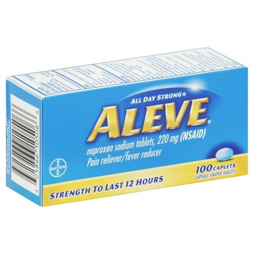 Aleve Pain Reliever/Fever Reducer, 220 mg, Caplets, 100 caplets
