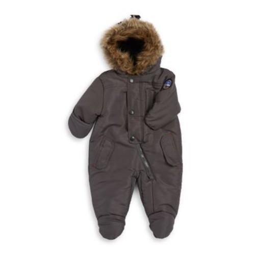 Baby Boy's Faux Fur Trim Bodysuit