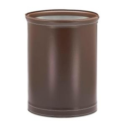 Kraftware Stitch Chocolate 13 Qt. Oval Waste Basket