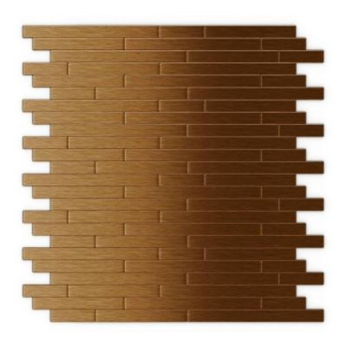 Inoxia SpeedTiles Wally 11.88 in. x 12 in. Self-Adhesive Decorative Wall Tile in Dark Copper (24-Pack)
