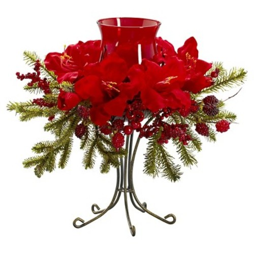 Nearly Natural Amaryllis Candelabrum Silk Flower