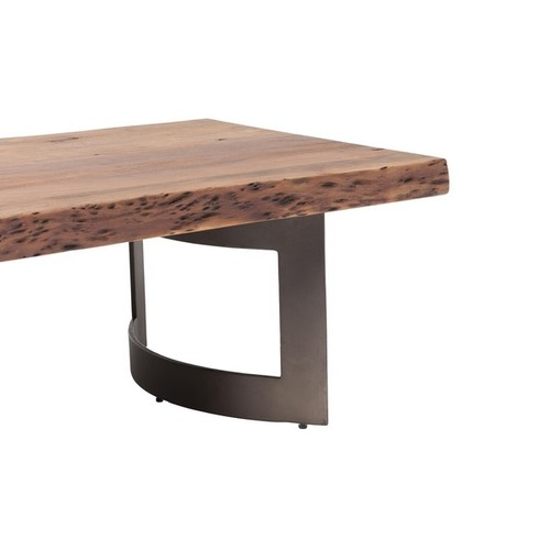 Aurelle Home Coffee, Console, Sofa & End Tables Aurelle Home Rustic Plank Coffee Table