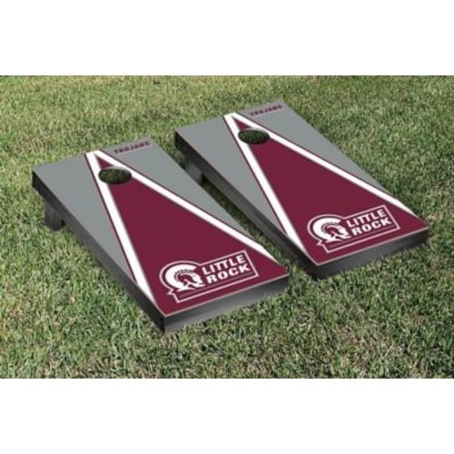 Victory Tailgate NCAA Triangle Version Cornhole Game Set; Arkansas Little Rock UALR Trojans