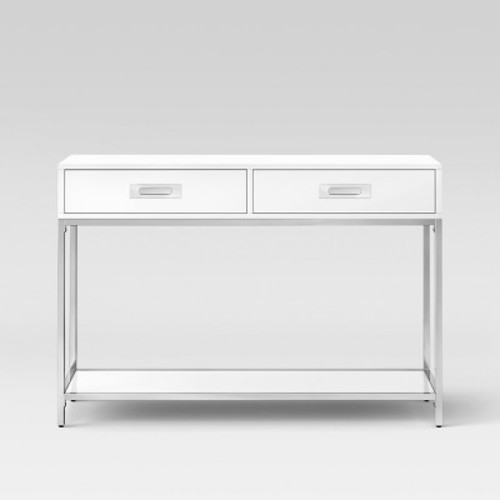 Ronchamp Console Table Chrome/White - Project 62