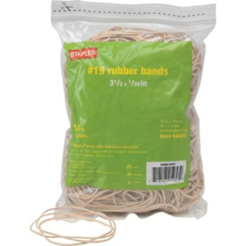 Staples Economy Rubber Bands Size #19, 1/4 lb.