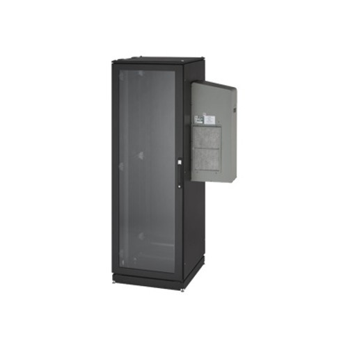 Black Box ClimateCab NEMA 12 Server Cabinet with Tapped Rails and 5000-BTU AC Unit - System cabinet - 42U - 19