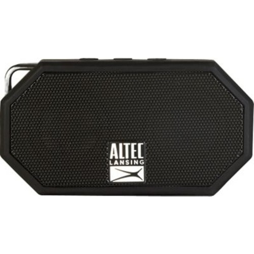Altec Lansing Mini H20 Speaker Rugged Bluetooth Speaker, Black