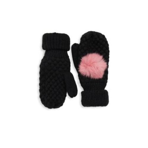 Surell - Girl's Dyed Rabbit Fur Gloves
