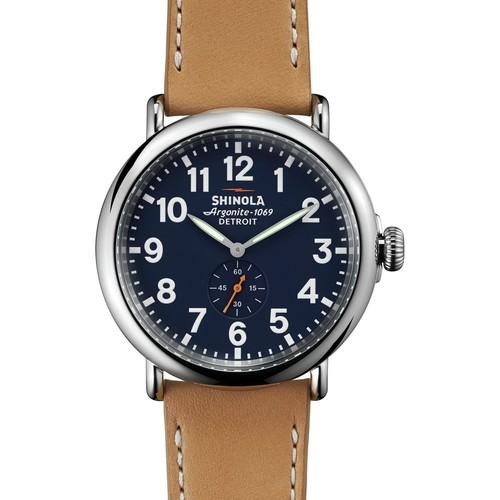 Shinola Runwell 47mm Leather Watch