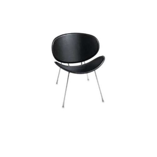 Safco 3563BL Sy Leather Guest Chair Black