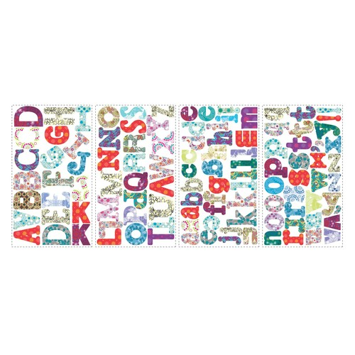 ROOMMATES RMK1776SCS Boho Alphabet Peel and Stick Wall Decals
