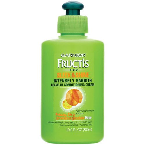 Garnier Fructis Sleek & Shine Intensely Smooth Leave-In Conditioning Cream, 10.2 Fl. Oz